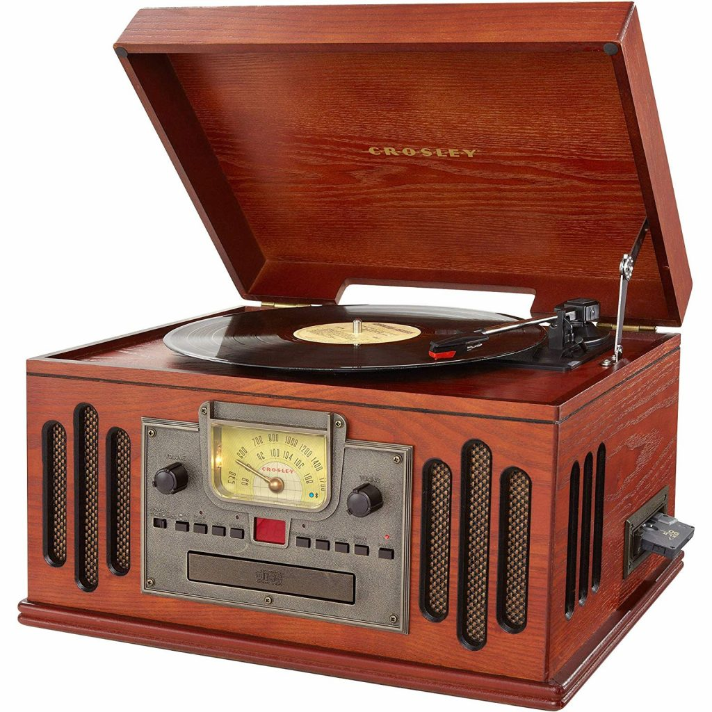 1. Crosley CR704D-PA Musician 3-Speed Turntable