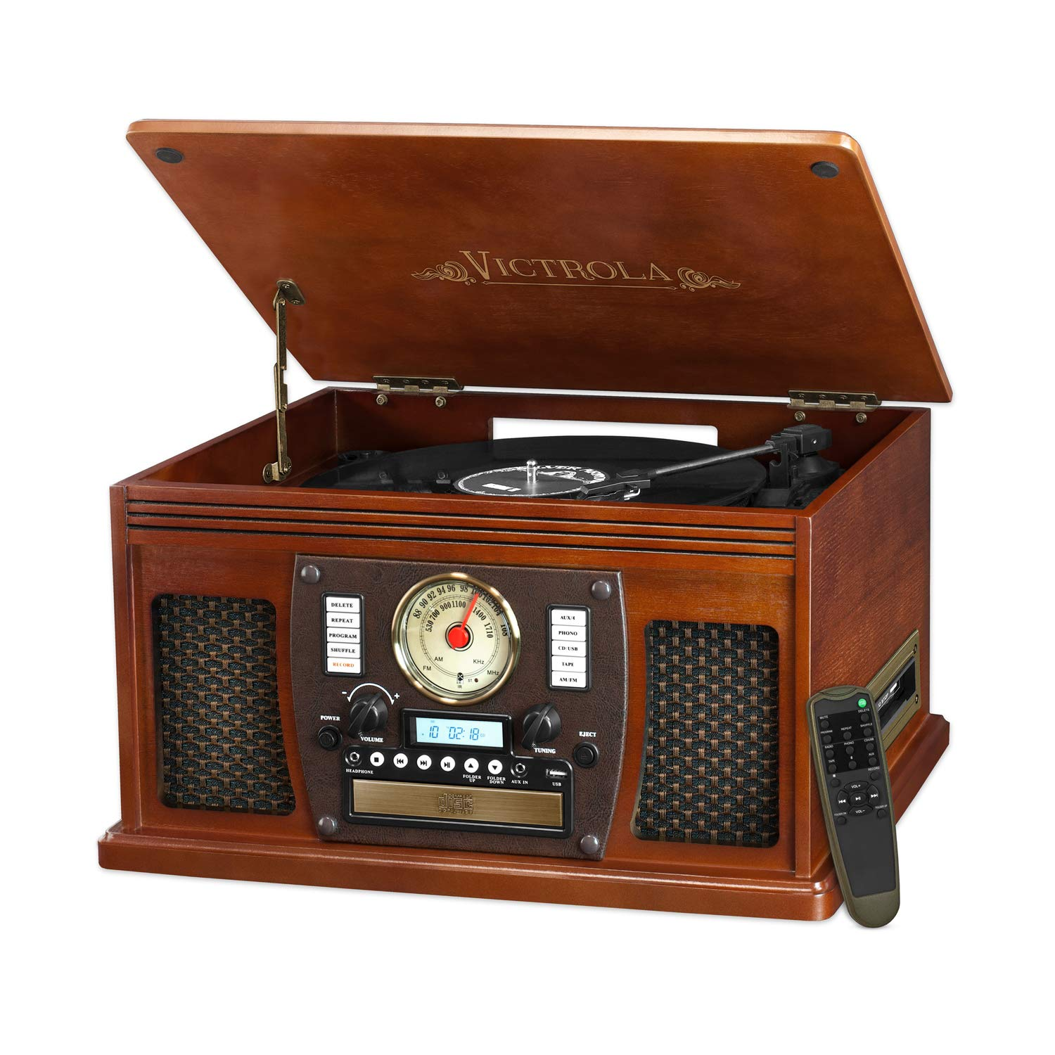 Victrola Nostalgic Aviator Wood 8-in-1 Turntable Review